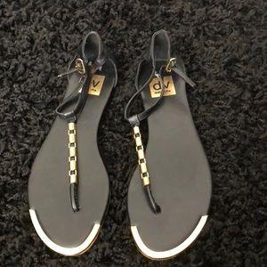 Dolce Vita Black & Gold Sandals